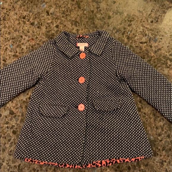 Toddler girl Ruby & Bloom Tweed Coat Sz 2 blk wht